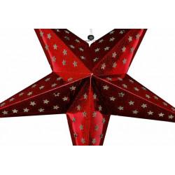 Vánoční dekorace - svítící hvězda na stojánku - 40 cm, 20 LED diod